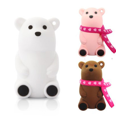 Bone polar bear usb flash drive lovers gift cartoon style usb flash drive 4g diaosheng(China (Mainland))