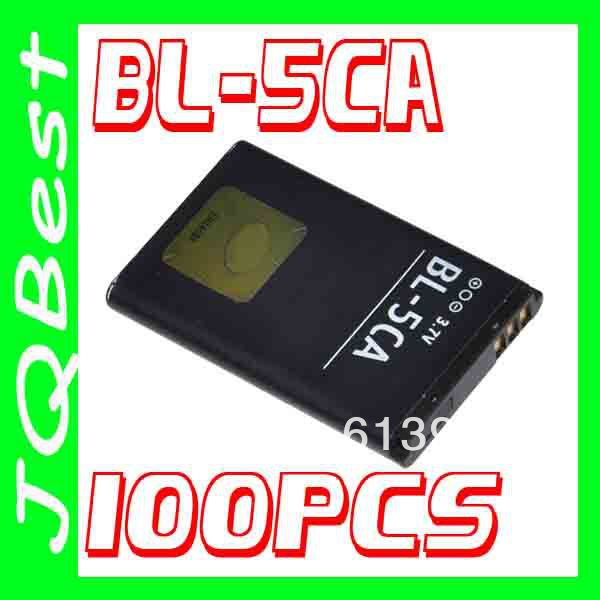 100pcs AA BL-5CA Battery for Nokia Cellular E60 6270 6681 6670 6108 1100 Mobile Cell Phone(China (Mainland))