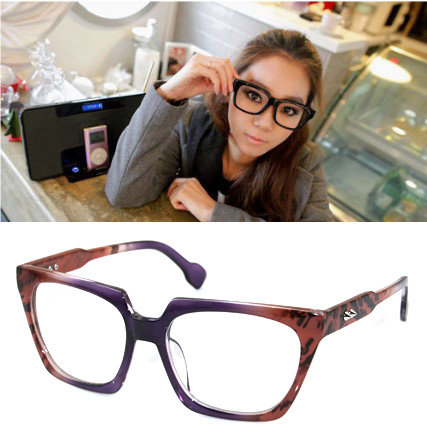 Fashion non-mainstream big black eyeglasses frame the box male women&#39;s belt meters glasses frame plain mirror decoration lens(China (Mainland))