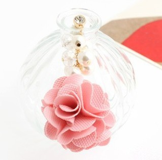 MINI ORDER USD10(mixed) Free shipping Earphone Ear Cap Dock pearls flower gold plated Dust Plug for IPONE SAMSUNG HTC NOKIA(China (Mainland))