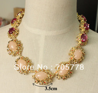 Exclusive Auth JC synthetic stone Bohemian style Luxury Jewelry necklace Small Order Fashion Jewelry statement necklace