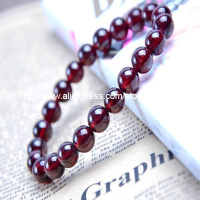 burgundy garnet bracelet 8mm(China (Mainland))