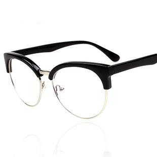 High quality scrub leopard print line metal rivet belt plano lens glasses frame 5(China (Mainland))
