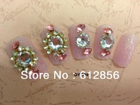 new arrival, 3D design elegant false nail 24pcs/set,artificial nails/ the bride wedding party with glue