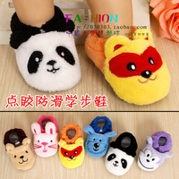 Spring and autumn coral fleece glue slip-resistant toys baby shoes infant shoes toddler cartoon ploughboys 1116