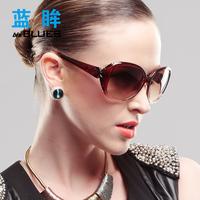 Vintage 2013 gradient color female sunglasses big box sunglasses fashion elegant women's glasses