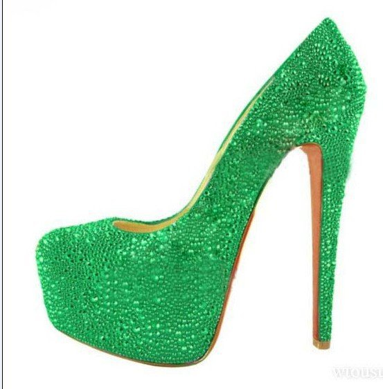 Latest fashion lady high heels shoes, women&#39;s wedding shoes, diamond bridal shoes!(China (Mainland))