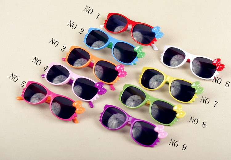 Free shipping by DHL/EMS,2013 most popular Fashion Colourful Children/kids Hello kitty Sunglasses Kids Sunglasses free shipping(China (Mainland))