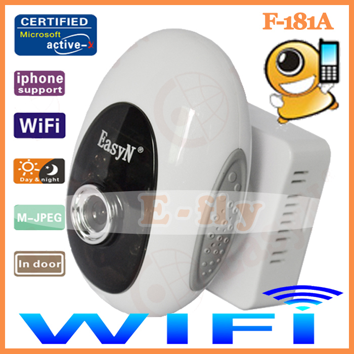 5PCS/Lot Easyn Mini wireless Wifi Webcam CCTV Ip Camera With IR Night vision 10m,Two Way Audio,F-M181 Wholesale(China (Mainland))