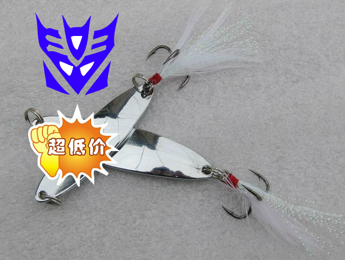 Free Shipping Super bright spoon hyperbolically paillette lure paillette lure paillette copper(China (Mainland))