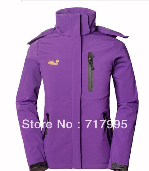 2013 Free shipping Ladies women Soft shell fleece jacket female models outdoor DengShanFu(China (Mainland))