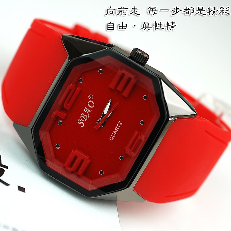 Silicone sports watch casual new neutral table students watch wholesale&amp;retail factory direct price(China (Mainland))