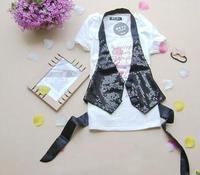 Ds small paillette vest all-match vest hip-hop clothes
