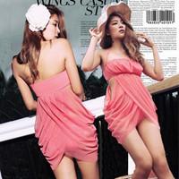 Lovely New Women Sexy One-Piece Halter Swimdress Hot Spring Slim Waist Swimwear