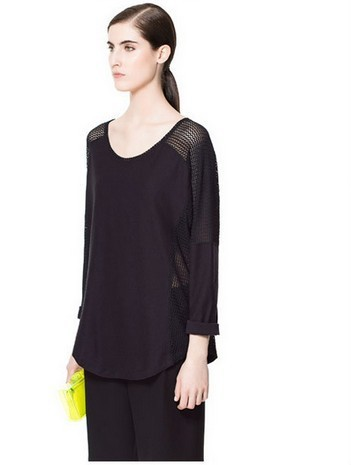2012Free shipping I Q shop/ladies designer chiffon &amp; kintted sweater /ladies blouses /girls have/special offer(China (Mainland))