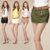 1653 # 2014 Summer new Korean style women's cotton shorts fashion culottes shorts overalls