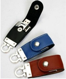 13usb leather drive 64GB USB Flash drive, PC accessories Novelty , Disk Stick Key Chain Swivel 1PSC(China (Mainland))
