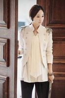 2012 fashion newest women outerwear , ladies suit blazer ,Napoleon epaulet coat overcoat,Free shipping WWX002