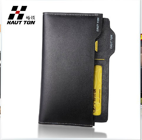 Men&#39;s long style fashion wallet made of genuine leather, gifts for father&#39;day,it&#39;s also a iphone case and passport holder(China (Mainland))
