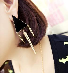 Hot-selling 2013 trigonometric rivet all-match elegant stud earring earrings accessories female fashion(China (Mainland))
