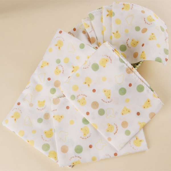 Infant 100% cotton gauze 8 piece set - 100% cotton handkerchief bib washouts bath towel soft(China (Mainland))