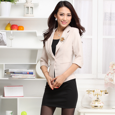 2013 spring elegant slim suit formal professional skirt female suit 863(China (Mainland))