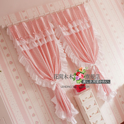 Rustic home polka dot bedding package curtain the finished curtain(China (Mainland))