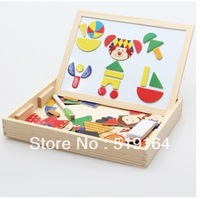 Free Shipping! Magnetic Multifunctinal Educational Black & White Wooden board Cartoon Puzzle