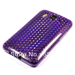 HIGH QUALITY SOFT GEL TPU SILICONE CASE COVER + SCREEN FOR HTC DESIRE HD G10 FREE SHIPPING(China (Mainland))