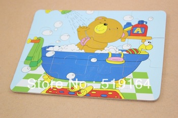 Free Shipping! Promotion Educational Animals Wooden Jigsaw Puzzles