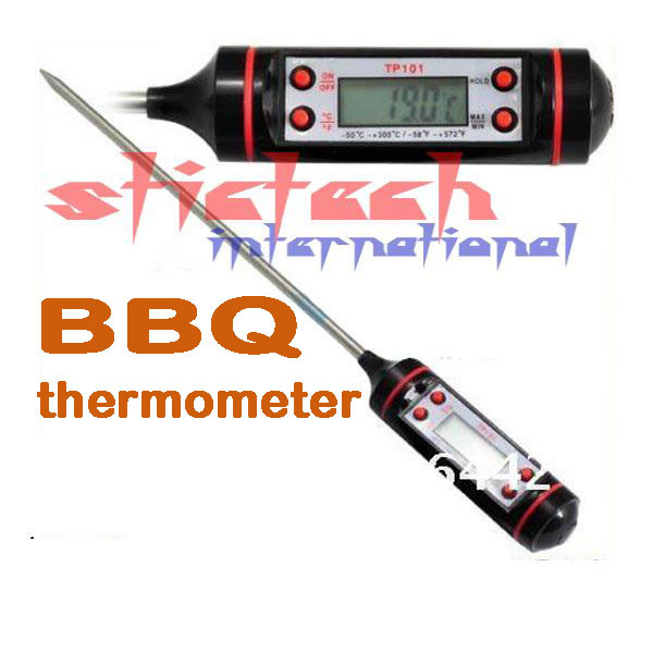 BY DHL OR EMS 100 pieces Thermometer Kitchen BBQ Digital Cooking Food Probe Meat(China (Mainland))