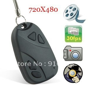 BY DHL OR EMS 300 pieces Hot sale NEW Car key camera Mini Hidden Cam DVR 808 free shipping(China (Mainland))