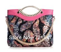 Free shiping! the new summer 2013 sequins female  handbag ,aslant Dual purpose fashion handbags Hot Sell!3colors!