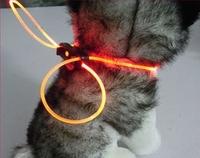 Free Shipping LED pet collar flashing dog collar 80 cm multicolor glowing dog collars adjustable collar