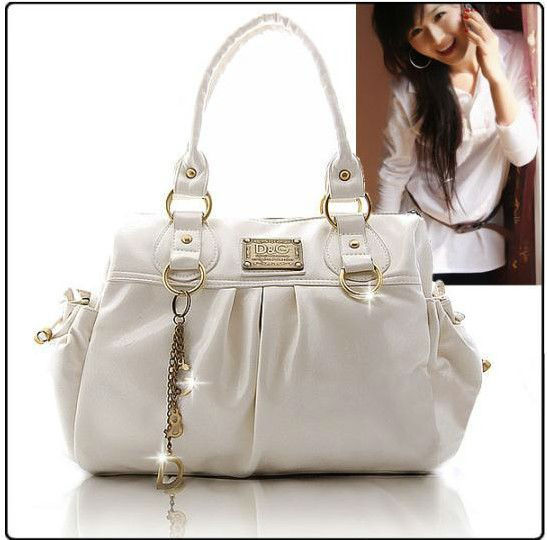 Lady handbag manufacturers selling fashionable OL fold patent leather shoulder bag(China (Mainland))