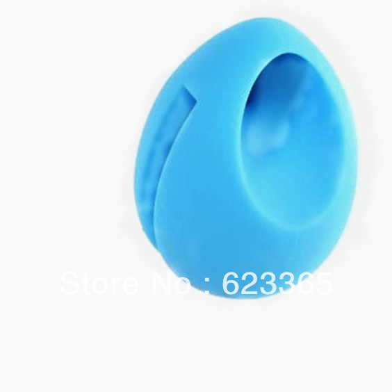 Asima Free Shipping Blue Egg Shap Silicon Stand Music Audio Loud Speaker Amplifier+Free Capacitive Stylus Pen for iPhone 5(China (Mainland))