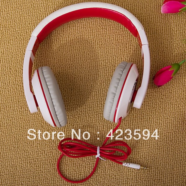 Trendy Kanen 3.5mm Jack Built-in Microphone Design White Stereo Headphone (MC-780)(China (Mainland))