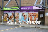 13 square meter one way vision window graphic sticker printing, print window advertising