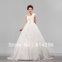 Free     shipping     In 2013, the latest high-quality goods han edition one shoulder wedding dress