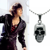 Titanium steel necklace Men star prolocutor stainless steel titanium skull necklace