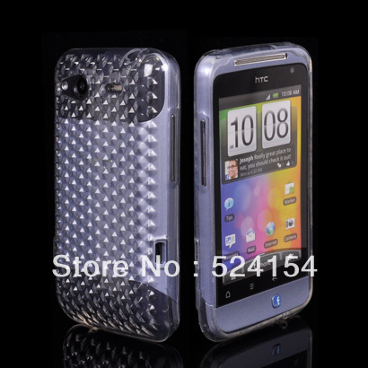 HIGH QUALITY SOFT GEL TPU SILICONE CASE COVER + SCREEN FOR HTC Salsa C510E G15 FREE SHIPPING(China (Mainland))