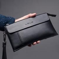 Hotsale 2013 Men's Genuine Leather Wallet High Quality Cowhide Man Clutch Bag 2 Colors
