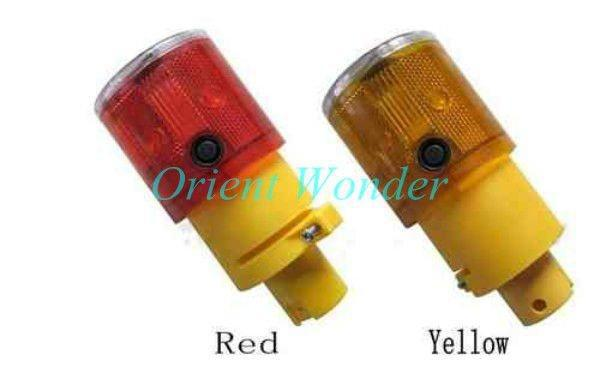 20piece/lot Free shipping,solar powered traffic warning light,LED soalr safty signal beacon alarm la(China (Mainland))