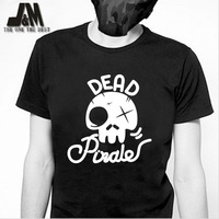 2013 fasion summer men t-shirt luminous Skull Pirate skeleton skull shirts punk rock tee disigner original design Skullcandy