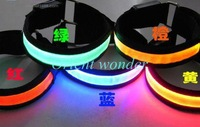 100 pcs/lot DHL Free shipping outdoor led arm band,flash led wrist straps,safety product for adults,