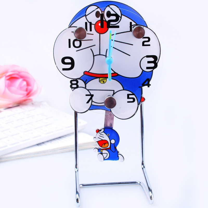 Watch company in Guangzhou wholesale mini swing table clock jingle cat cartoon swing Table Clock 158030(China (Mainland))