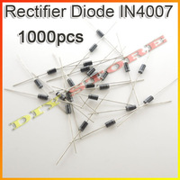 Drop shipping 1000pcs/Lot IN4007 1N4007 Rectifier diode 1A/1000V Diode for solar panels+free shipping-10000582