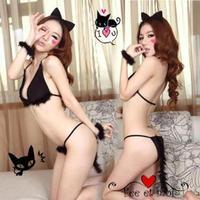 Sexy cat costume women's lead dancer clothing uniform