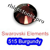 ss7 GENUINE Swarovski Elements Burgundy ( 515 ) 144 pcs ( NO hotfix Rhinestone ) Round Clear Glass 7ss 2058 FLATBACK Crystal(Hong Kong)