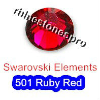 ss7 GENUINE Swarovski Elements Ruby Red ( 501 ) 144 pcs ( NO hotfix Rhinestone ) Crystal Clear Glass 7ss 2058 FLATBACK(Hong Kong)